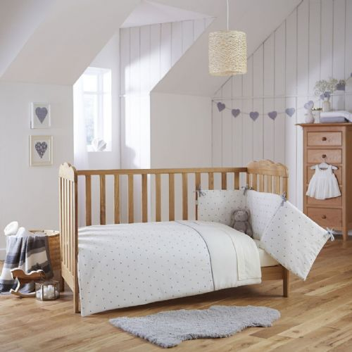 Cot Bed Set - Lullaby Hearts